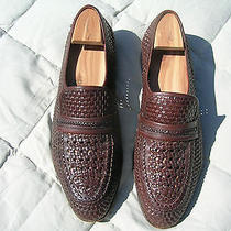 Bally Woven  Loafers 10.5m  Brown Diego Model   Vintage Gently Worn Photo