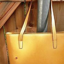Bally Yellow Leather Bag Tote Handbag Made in Italy Photo