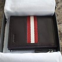 Bally Zip Wallet (Organizer) Luxury Leather Id Photo