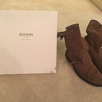 Balmain Beige Suede Boots Photo