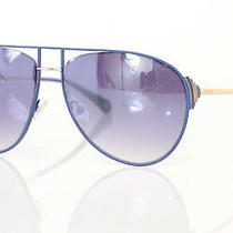 Balmain Bl2524 Blue Signature Logo Gradient Aviator Frame Sunglasses New 425 Photo