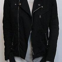 Balmain Black Cotton Moto Jacket Photo