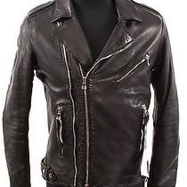 Balmain Black Leather Motorcycle Jacket Photo