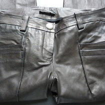 Balmain Black Leather Pants  Photo