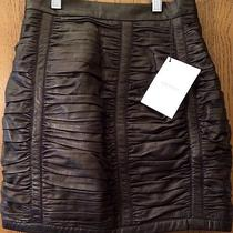 Balmain Black Leather Skirt Photo