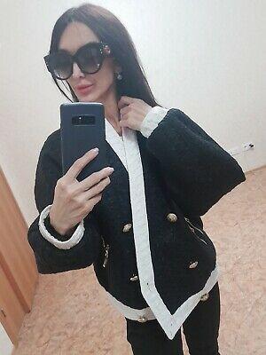 Balmain Black Wool Cream Trim  Blazer Jacket Size 38 Photo