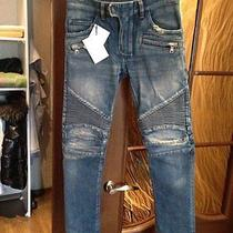 Balmain Blue Destroyed Jeans  Photo