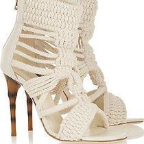 Balmain Braided Sandals Heels Shoes Bridal Wedding Summer  Photo