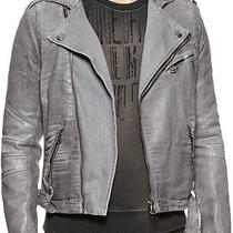 Balmain Coated Bike Jacket 52 Eu Asymmetrical Moto Free Us Ship New Reg. 1600 Photo