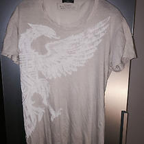 Balmain Ecru T-Shirt With Eagle Print Photo