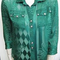 Balmain Green Viscose Blouse Photo