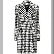 Balmain Houndstooth Tweed Double Breasted Coat Photo