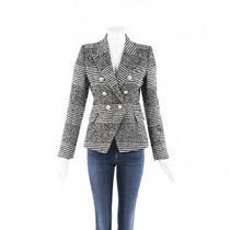 Balmain Houndstooth Wool Blazer Jacket Sz 38 Photo