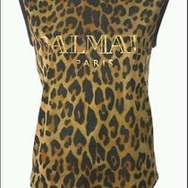 Balmain Leopard Logo Tshirt  Top Jacket Sz38 Like New 100%Authentic  690  Photo