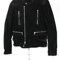 Balmain Mens Multi-Zip Crewneck Jacket Black Silver Size Large Photo