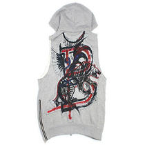 Balmain Paris Back Paint Print Sleeveless Hoodie Photo
