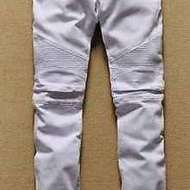 Balmain Paris Biker Jeans (Pure White)  Photo