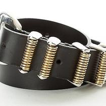 Balmain Paris Black Leather Belt  Photo