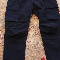 Balmain Paris Navy Velour Trousers /cargo  Gently Worn   36 Photo