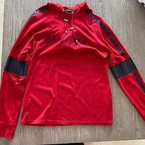 Balmain Paris Red Logo Hooded Sweatshirt (Hoodie) Size Large Great Condition Photo