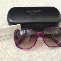 Balmain Purple Square Sunglasses Bl2036 03. Euc Photo