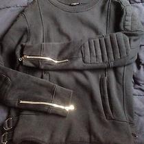 Balmain Quilted Panel Sweatshirt  Photo