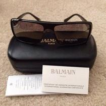 Balmain Rectangular Acetate Sunglasses  Bl 4001 03 Made in France 300 Photo