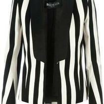 Balmain Striped Open Front Blazer Size M  Us6 Fr38 Photo