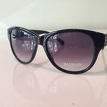 Balmain Sunglasses Bl 2008 Black 55-17 Made in France Free Shipping Photo