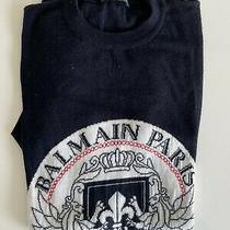 Balmain Sweatshirt Navy Logo Size M Photo