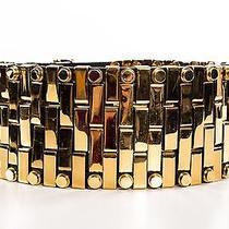 Balmain Wide Black and Gold Plated Belt - Runway Piece Photo