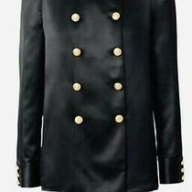 Balmain X h&m 38 Uk 10/12 Silk Blazer Military Gold Buttons Jacket Shirt  160 Photo