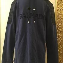 Balmain X h&m Men's Hooded Shirt With Printed Text Size L Photo