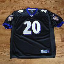 Baltimore Ravens Ed Reed 20 Nfl Football Jersey by Reebok Sewn Size 54 Photo