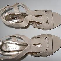 Bamboo Women's 8  Criss Cross Platform Wedge Shoe Natural Combo Photo