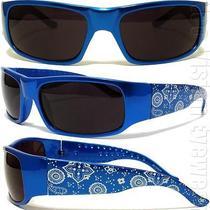 Ban Blue Paisley Bandana Sunglasses Super Dark Lenses Og Loc Style Photo