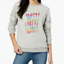 ban.do 68 Womens Gray Party Party Party Graphic Long Sleeve Sweatshirt M Bb Photo