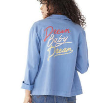 ban.do Blue Worker Jacket Dream Baby Dream Embroidered New Vintage Retro Photo