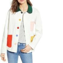 ban.do Color Pop Work Jacket Pastel Size S Women's Denim Soft Big Buttons Comfy Photo