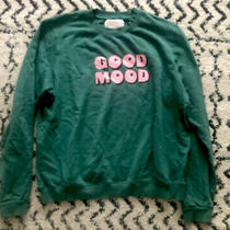 ban.do Green Long Sleeve Good Mood Sweatshirt for Women Size Large Euc Guc Photo