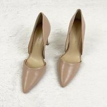Banana Republic Adelia Dorsay Leather Blush Pump Heel Womens Size 10 Photo