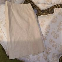 Banana Republic Beige Tan Pencil Skirt Classic Sz 2 Extra Small Chic Linen Cream Photo