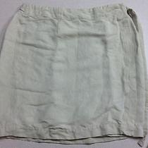 Banana Republic Beige Womens 10 Wrap Skirt Linen Tie Closure Photo
