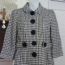 Banana Republic Big Buttoned Houndstooth()womans Jacket Blazer Sz 2 Nwot Photo