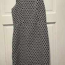Banana Republic Black/cream Diamond Pattern Lined Dress Size 4 Vguc Photo
