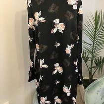Banana Republic Black  Floral Print Mini Dress Size 6 Nwt Photo