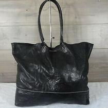 Banana Republic Black Lambskin Leather Tote Shoulder Bag Handbag Purse  Photo