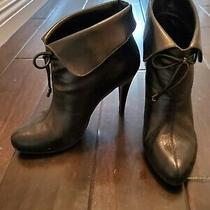Banana Republic Black Leather Stiletto Ena Booties Photo
