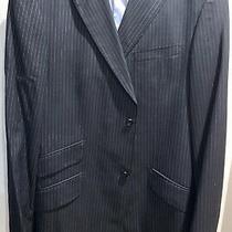 Banana Republic Black / Stripes Wool Blazer Suit Jacket Size 44l Photo