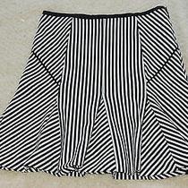 Banana Republic Black/white Mixed Stripe Fluted Skirt Size 2 Worn Once Photo